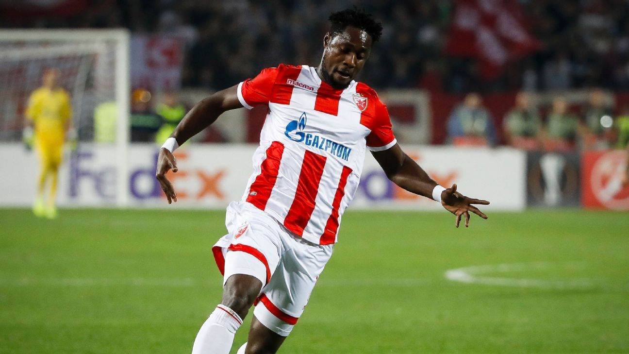 Richmond Boakye of Red Star Belgrade