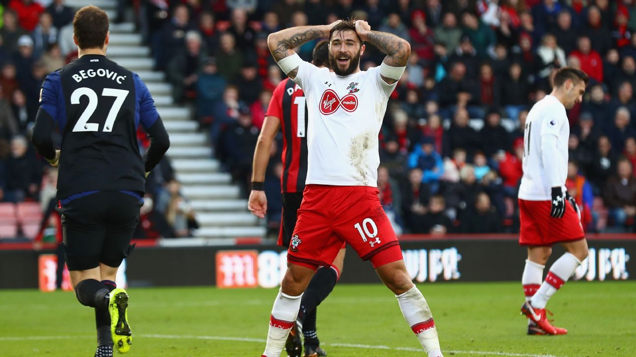 Charlie Austin came close to winning it for Southampton, but headed over.