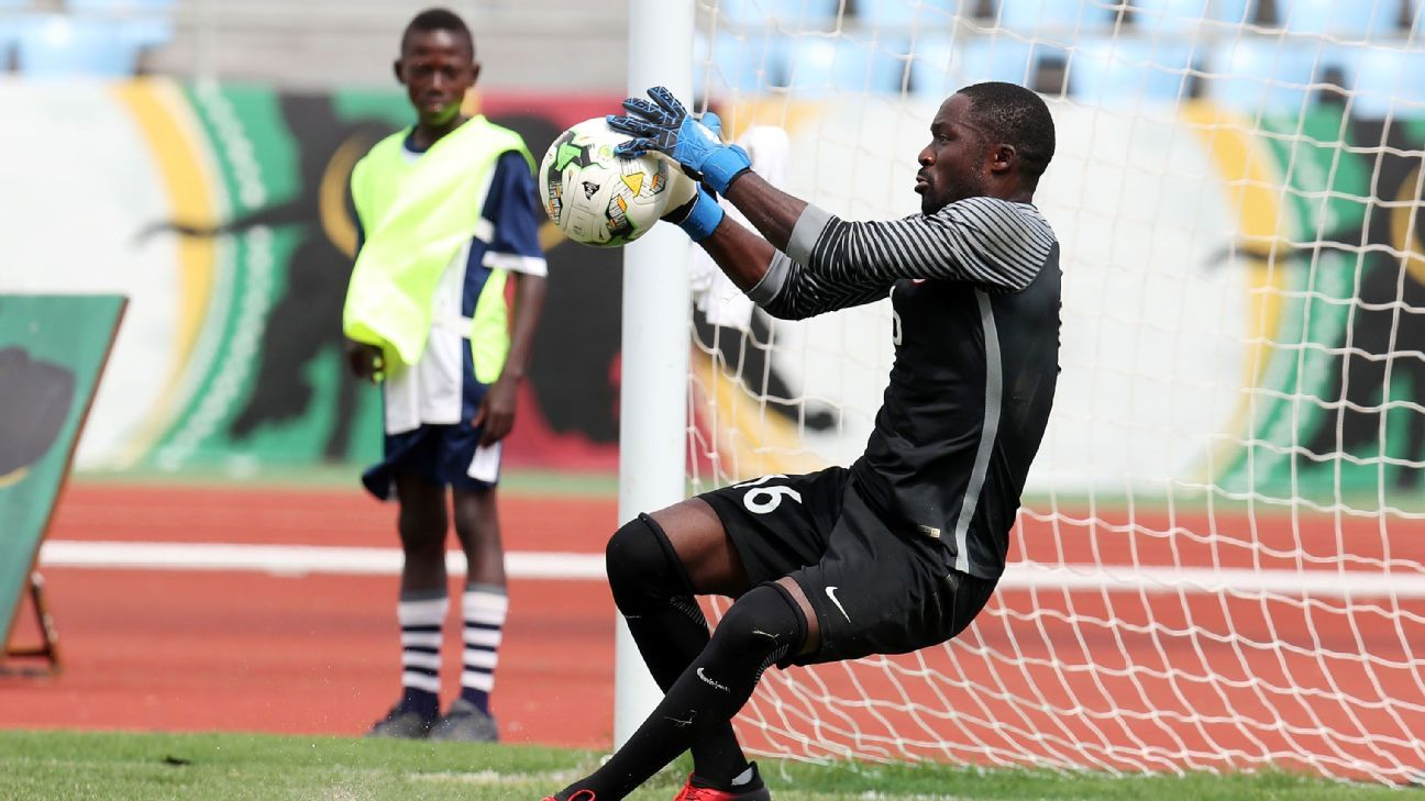 Dele Ajiboye playing in the 2017 WAFU Cup of Nations
