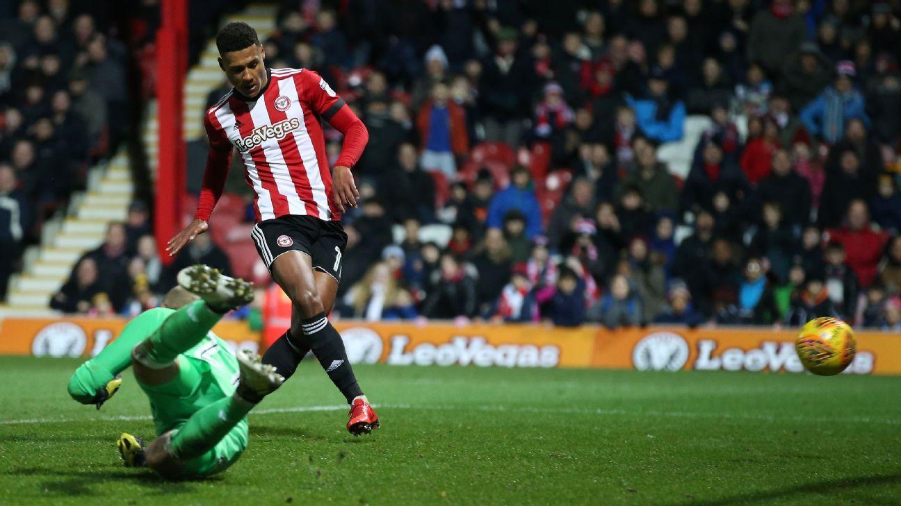 Ollie Watkins goal Brentford Fulham 171202