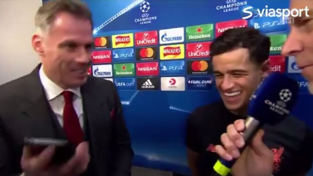 Barcelona calling? Liverpool's Philippe Coutinho put on spot when Carragher phone rings