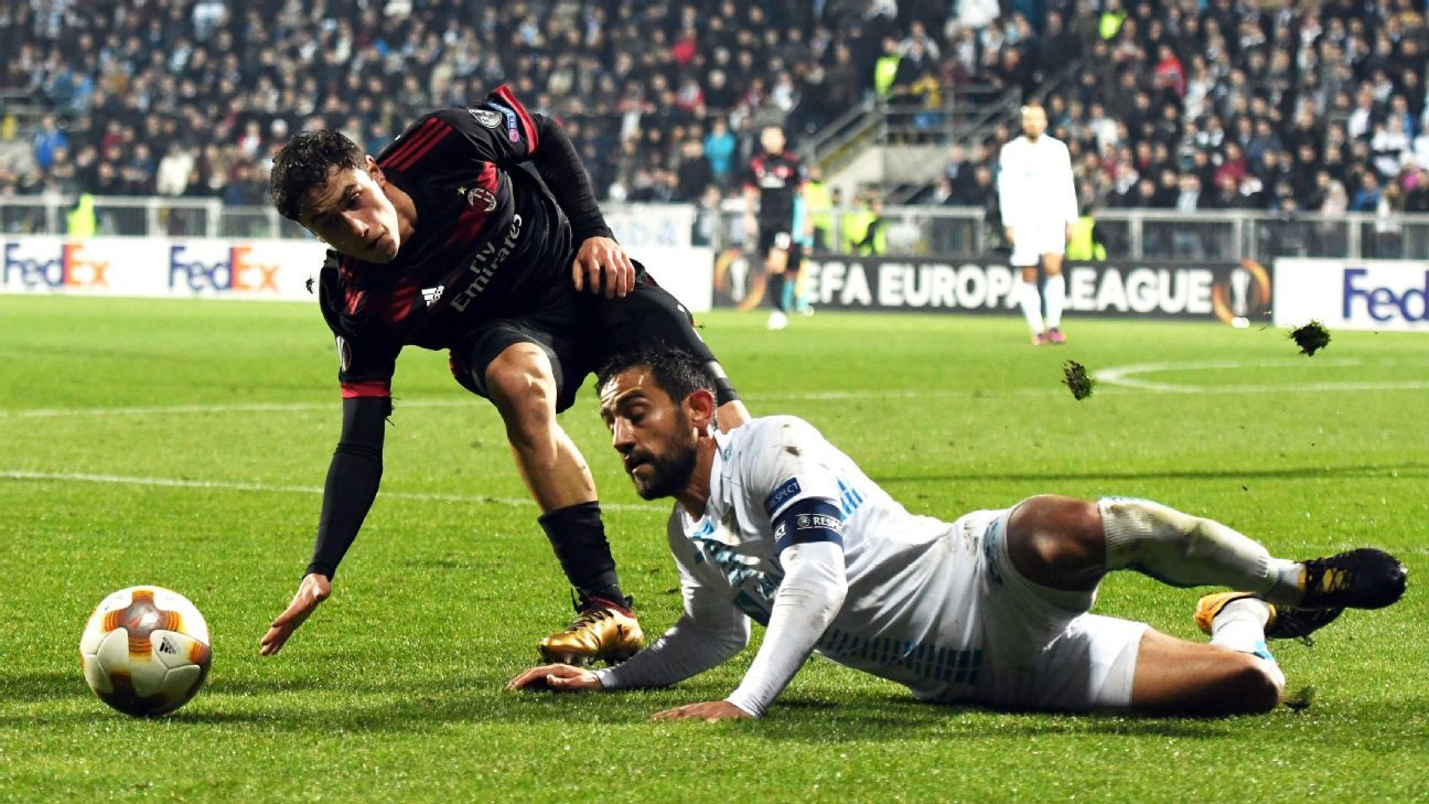 Milan failed to record a shot on target against Croatia's fourth-place side Rijeka on Thursday.