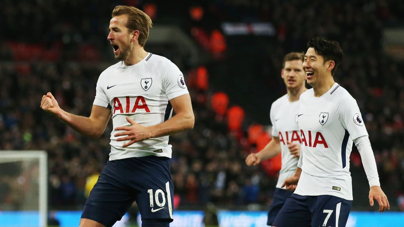 Harry Kane netted a brace for Tottenham.