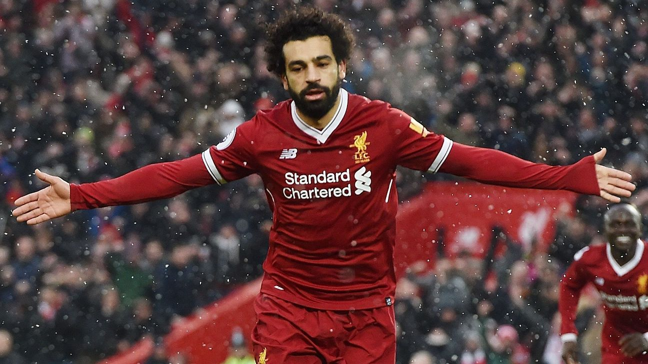 Mohamed Salah stayed red-hot with his 13th Premier League goal for Liverpool.
