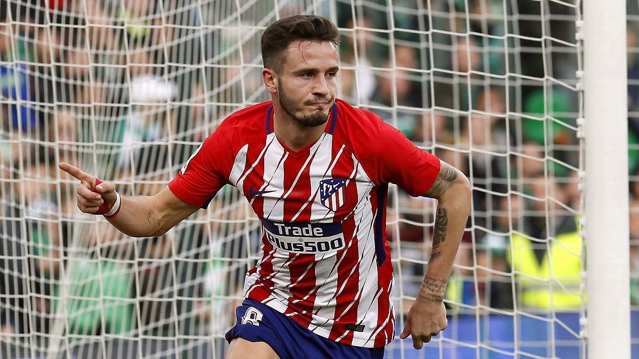Saul Niguez found the back of the net for the second match in a row.