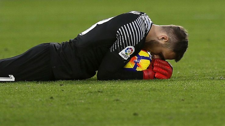 Jan Oblak had four saves and a clean sheet for Atletico.
