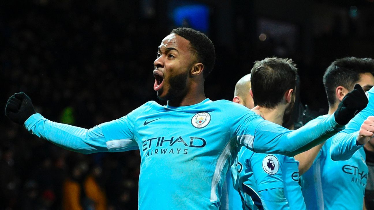 Raheem Sterling's reinvention in a central, false-nine role is significant to Man City's success this season.