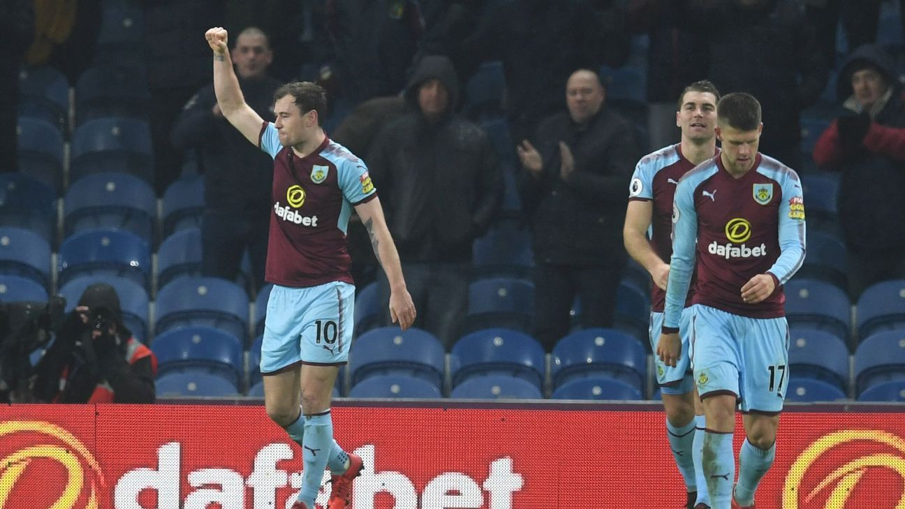 Ashley Barnes (L) celebrates after scoring