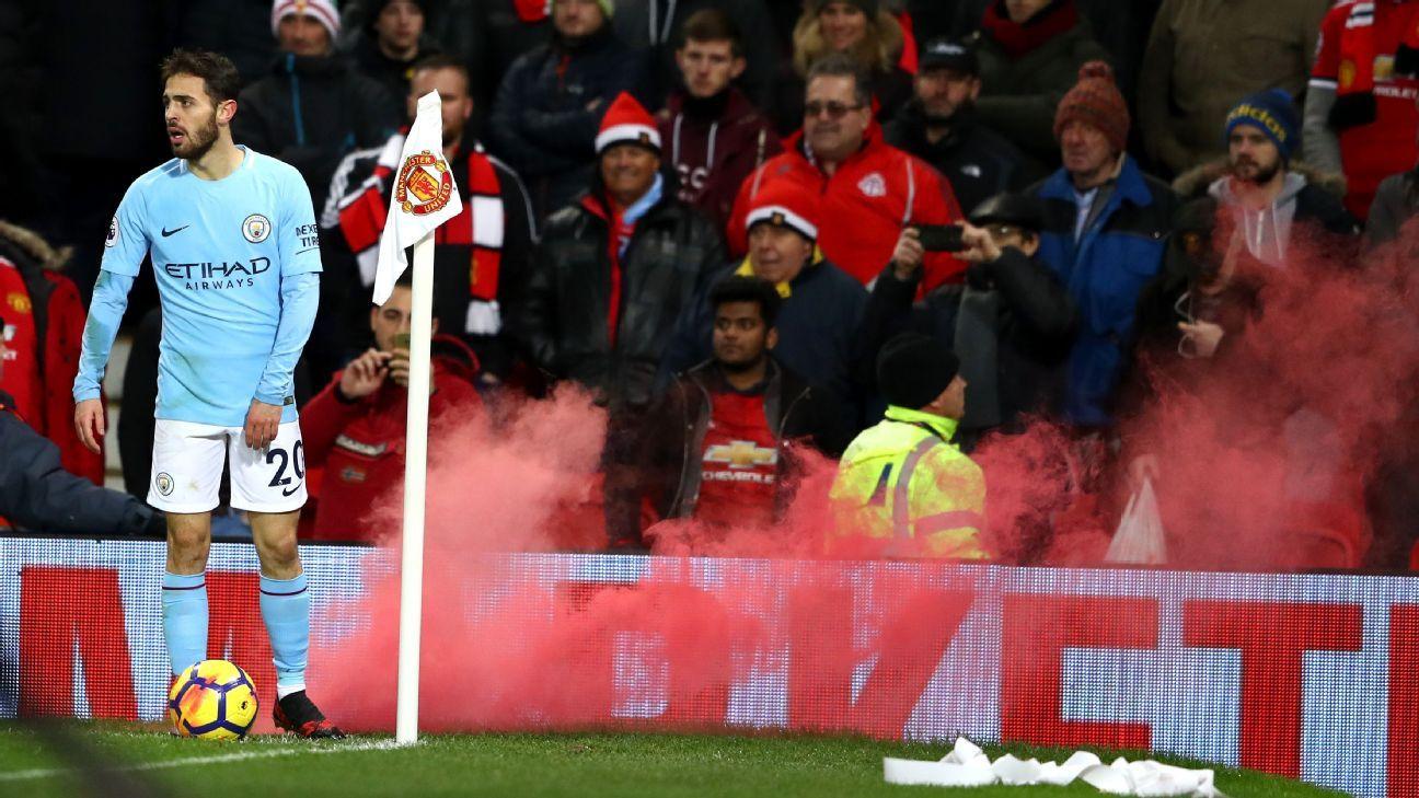 Bernardo Silva during Manchester City's Premier League win against Manchester United.