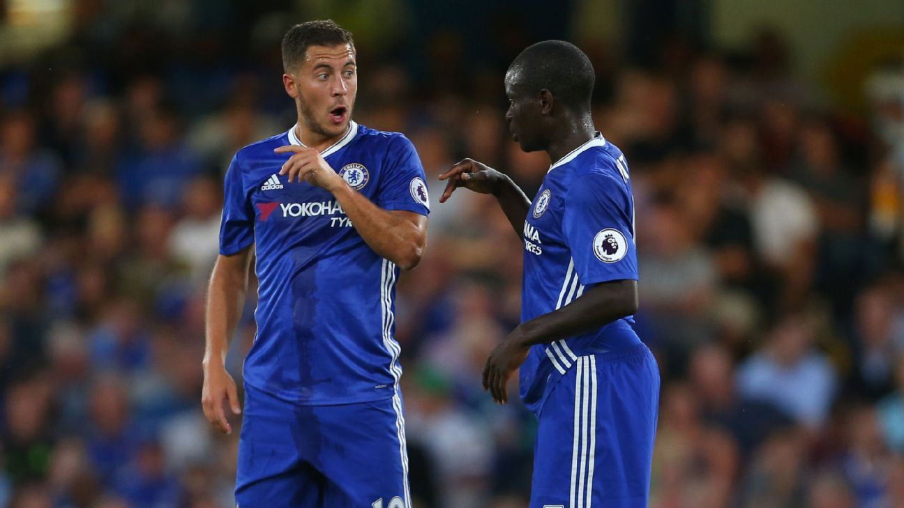 Eden Hazard and N'Golo Kante