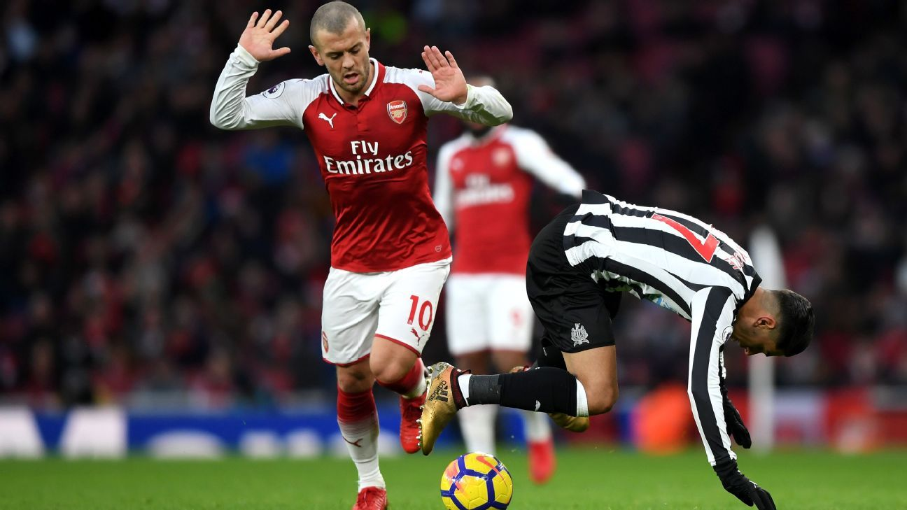 Jack Wilshere's recent return to favour continued vs. Newcastle.