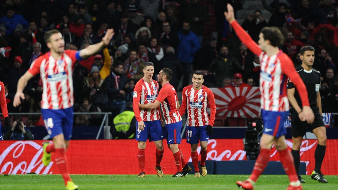 Atletico Madrid quietly won their fourth straight and moved into second in La Liga.