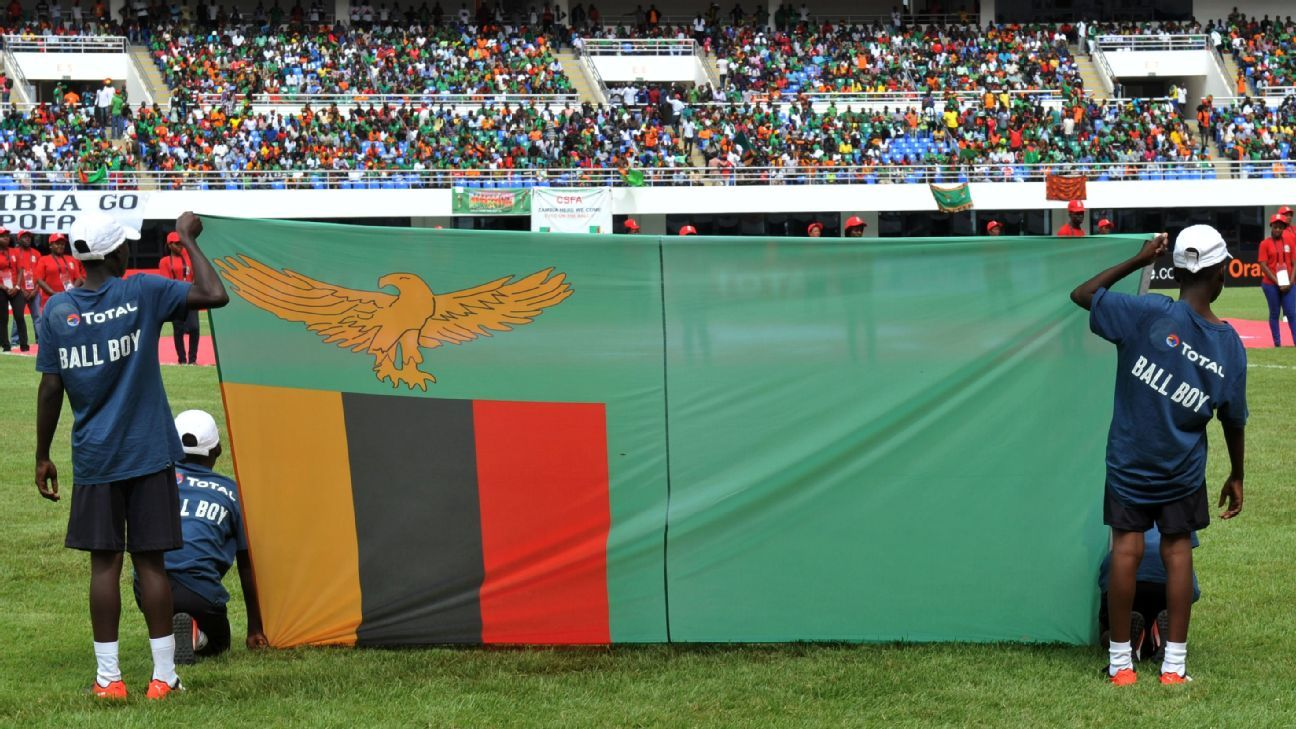 Zambia flag at the Zambia U-20 Africa Cup of Nations