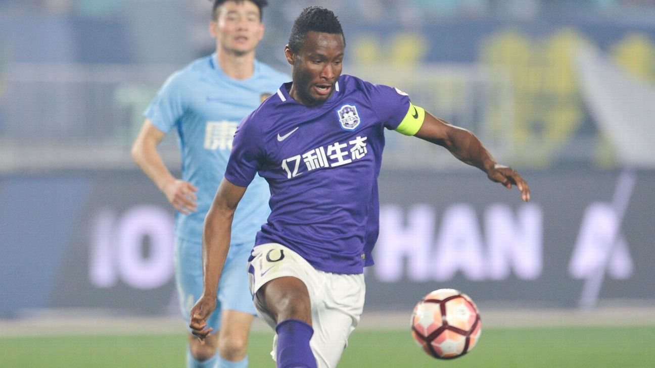 John Obi Mikel scored his first goal of the season as Tianjin Teda beat Guangzhou R&F.