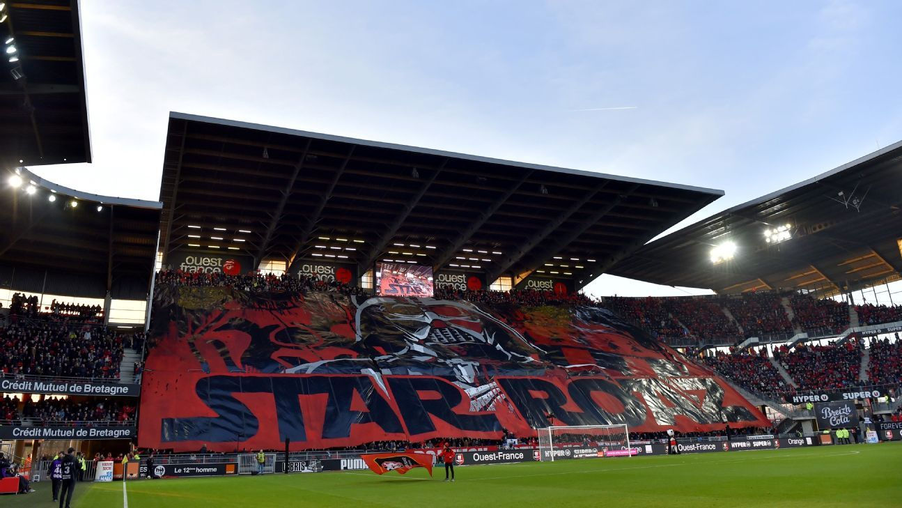 Rennes' fans' Star Wars-inspired tifo.