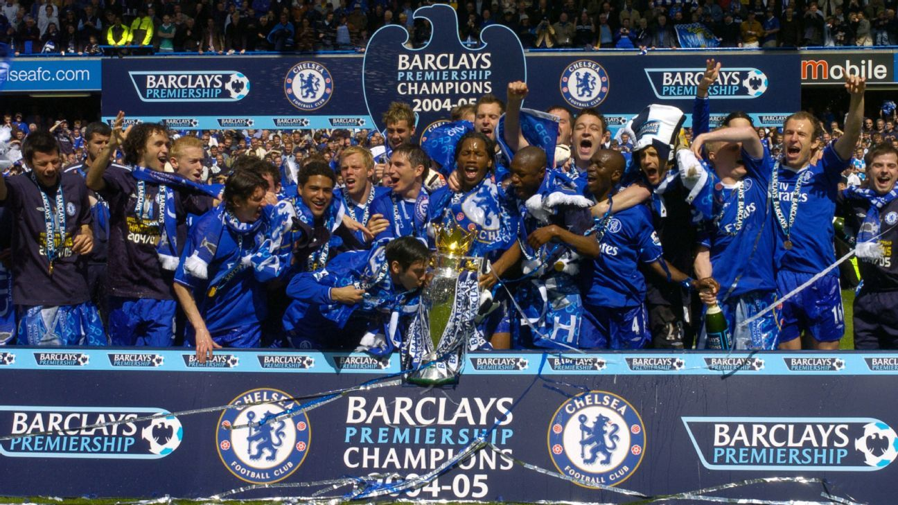 Chelsea Premier League title win 2005