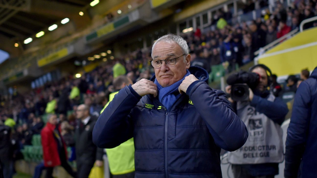 Nantes would release Claudio Ranieri for Italy job; coach interested