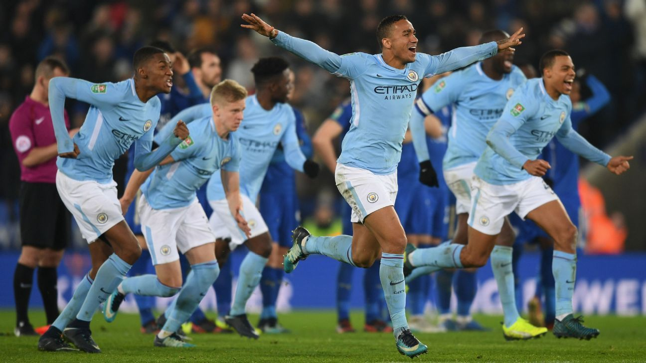 Man City survived a penalty shootout for the second straight round of the Carabao Cup.