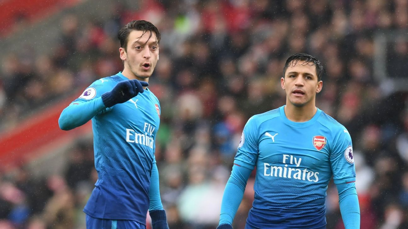 Mesut Ozil and Alexis Sanchez both look to be on their way out of the Emirates.