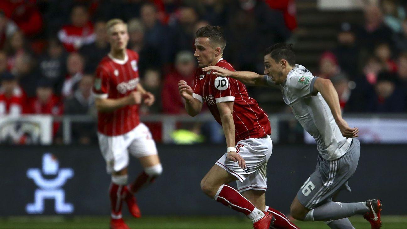 Man United's Matteo Darmian earned the low grade vs. Bristol City.