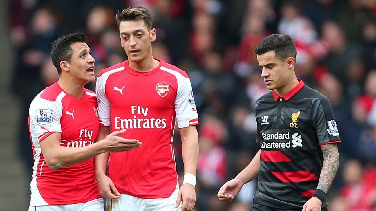 Alexis Sanchez, Mesut Ozil, Philippe Coutinho