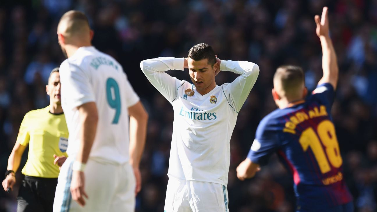 Cristiano Ronaldo and Real had no answer to Barcelona in the second half.