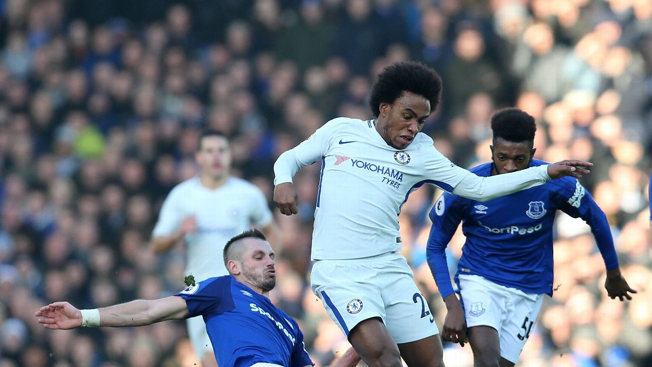 Willian failed to take his chance in a rare start for Chelsea.