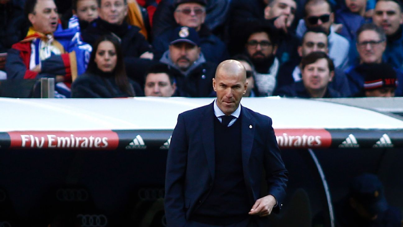Zinedine Zidane's hesitance in making some necessary changes was fatal in Saturday's significant defeat.