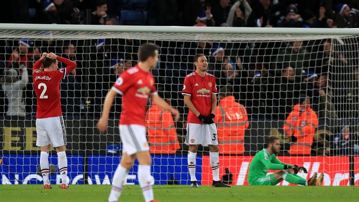 Man United were punished for their wastefulness vs. Leicester.