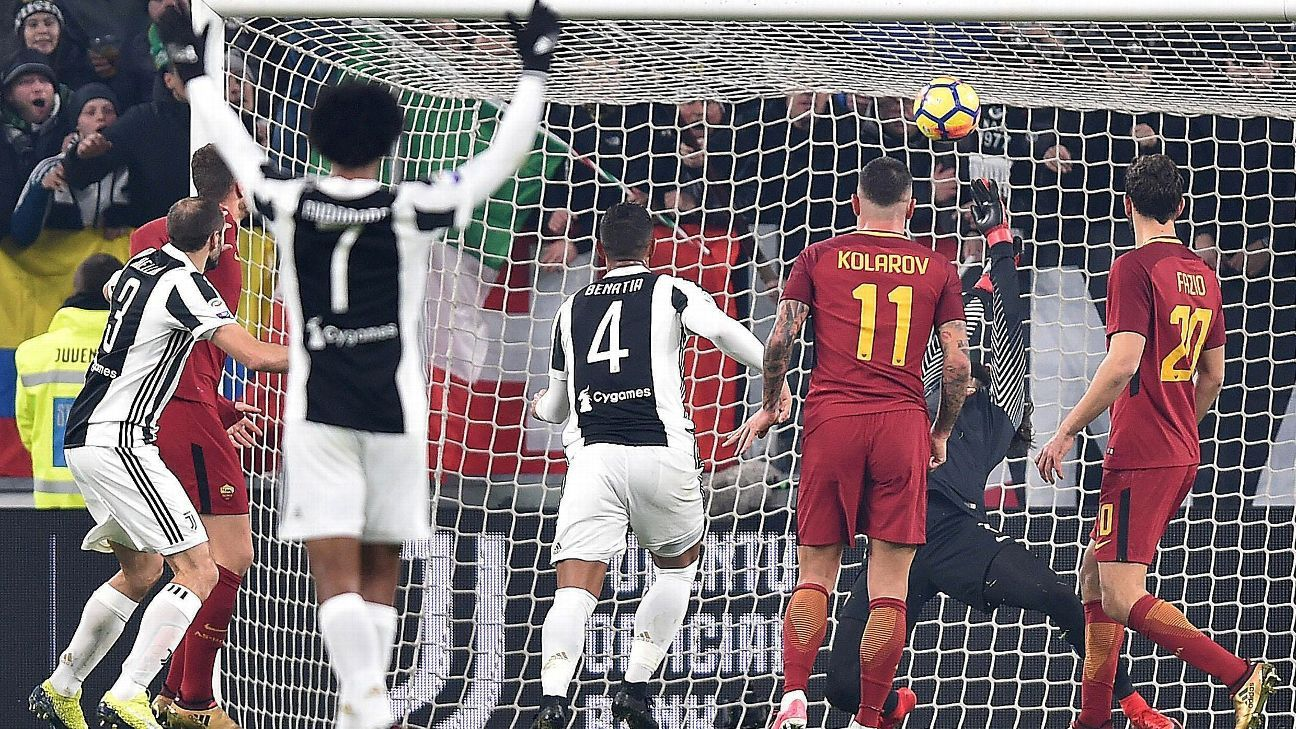 Roma were unable to equalise after Juve scored within 20 minutes.