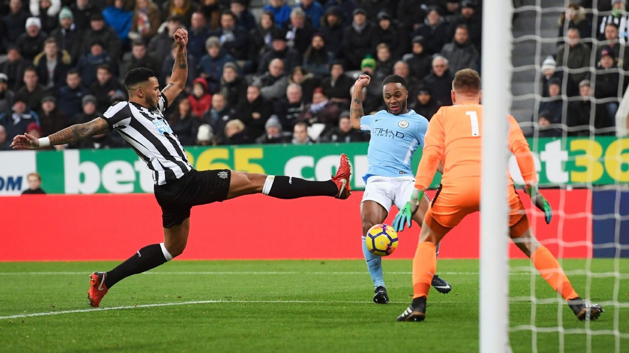 Raheem Sterling's first-half goal held up in a 1-0 win at Newcastle.