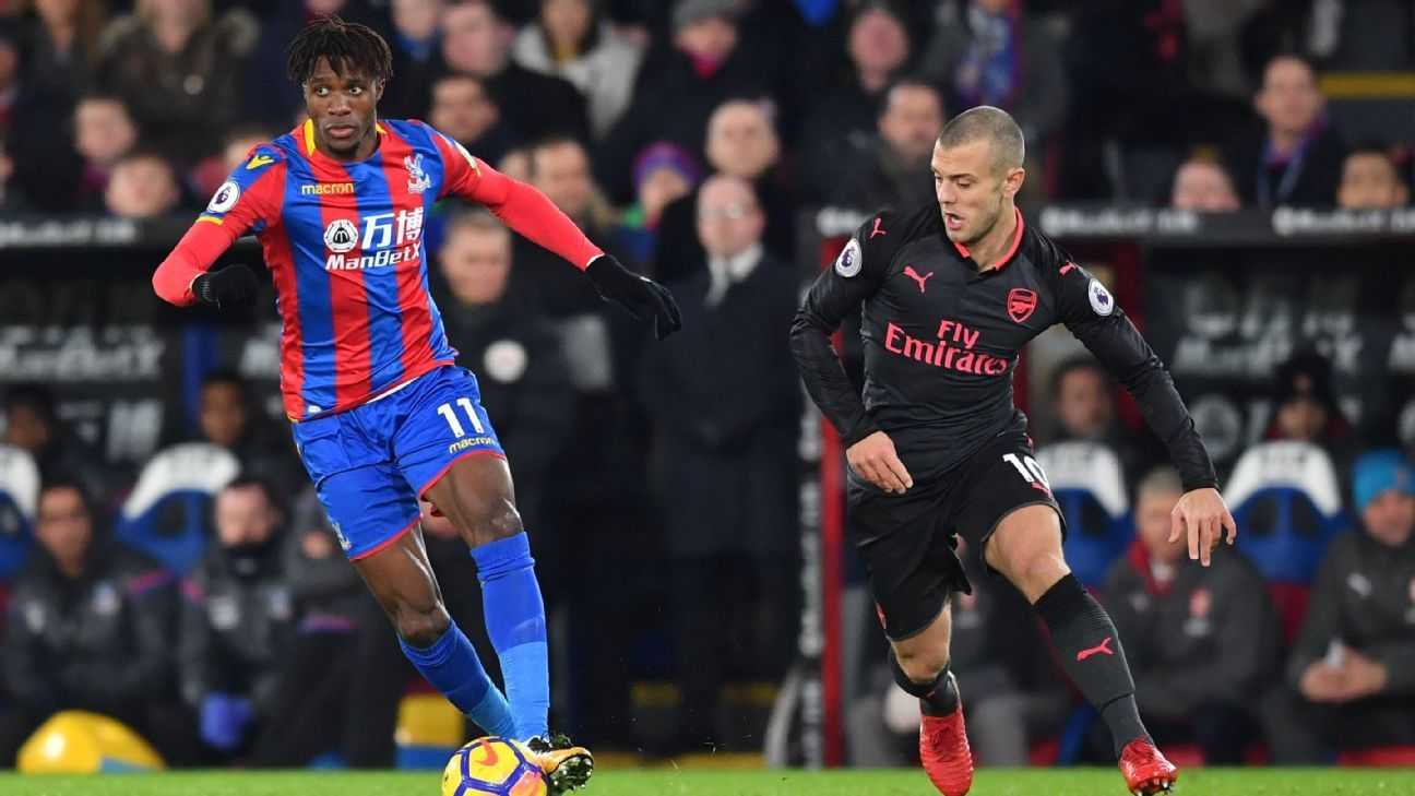Wilfried Zaha and Jack Wilshere