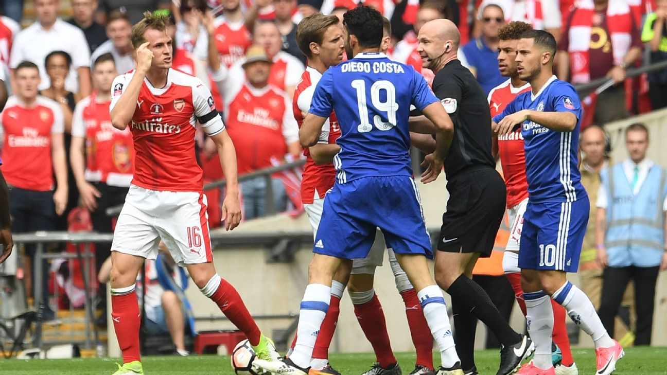 Diego Costa has had some memorable run-ins with Arsenal.