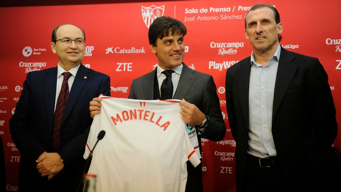Vincenzo Montella takes over a slumping Sevilla team that needs a shot in the arm.