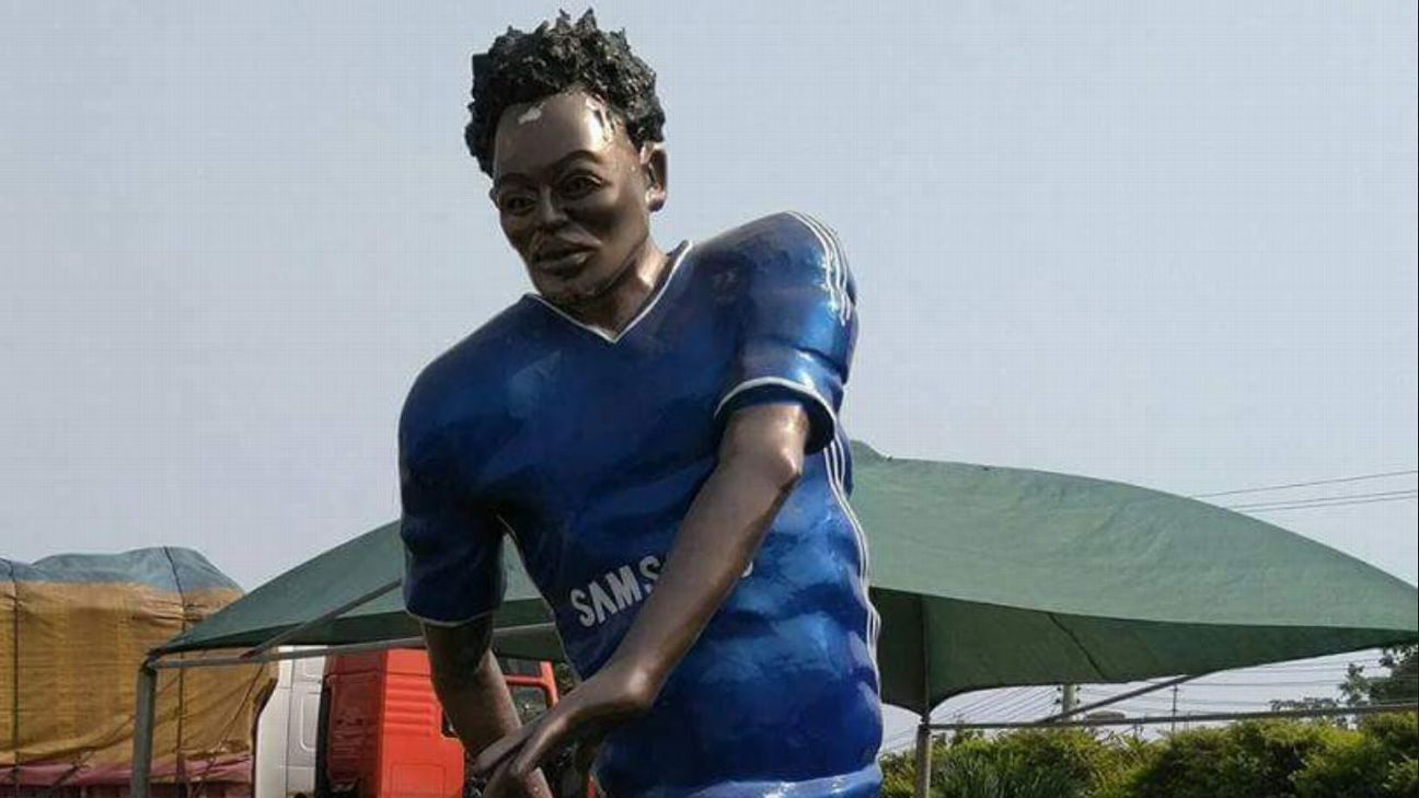 Michael Essien has had a statue erected in his honour in the city of Kumasi, Ghana