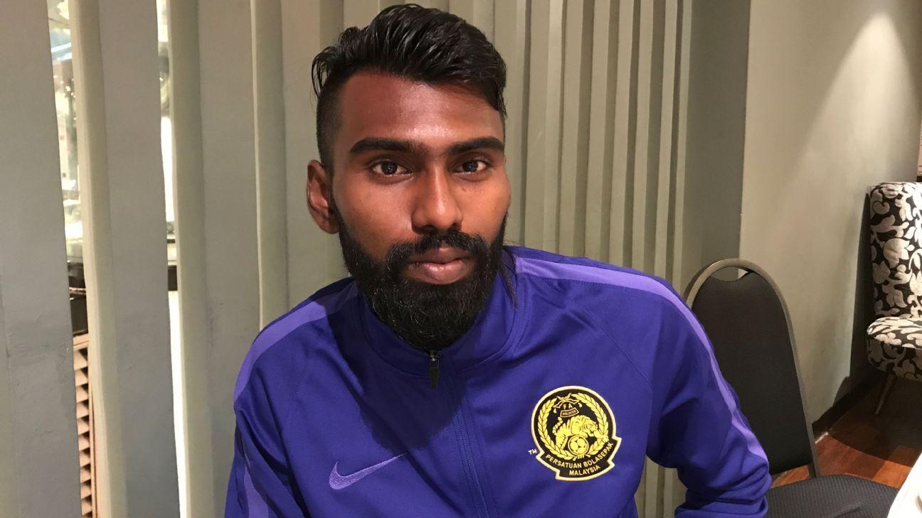 Malaysia U23 forward N. Thanabalan