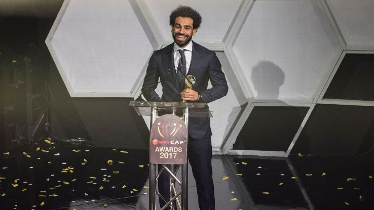 Egypt and Liverpool forward Mohamed Salah was named 2017 African Footballer of the Year at the CAF awards