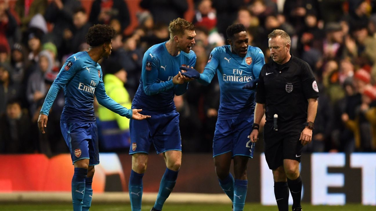 Per Mertesacker and Arsenal had an evening to forget at Nottingham Forest.
