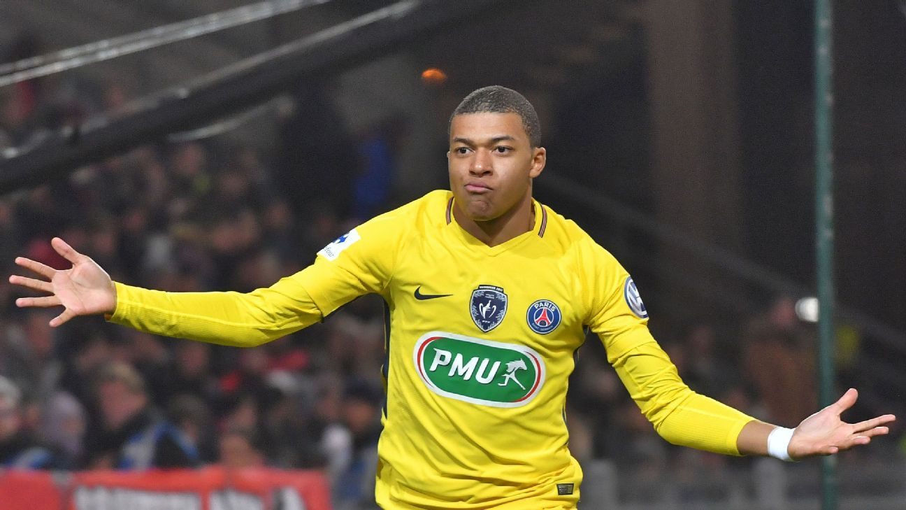 Kylian Mbappe was the standout performer for PSG on Sunday.