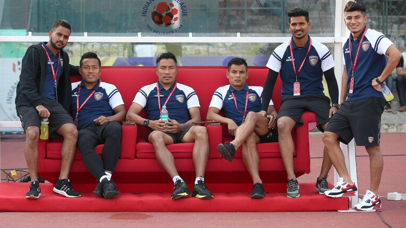 Jeje Lalpekhlua (second from left) has already scored six goals this ISL season.