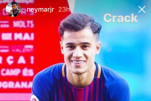 Neymar teases Philippe Coutinho about his hairstyle as he congratulates him on Barcelona transfer