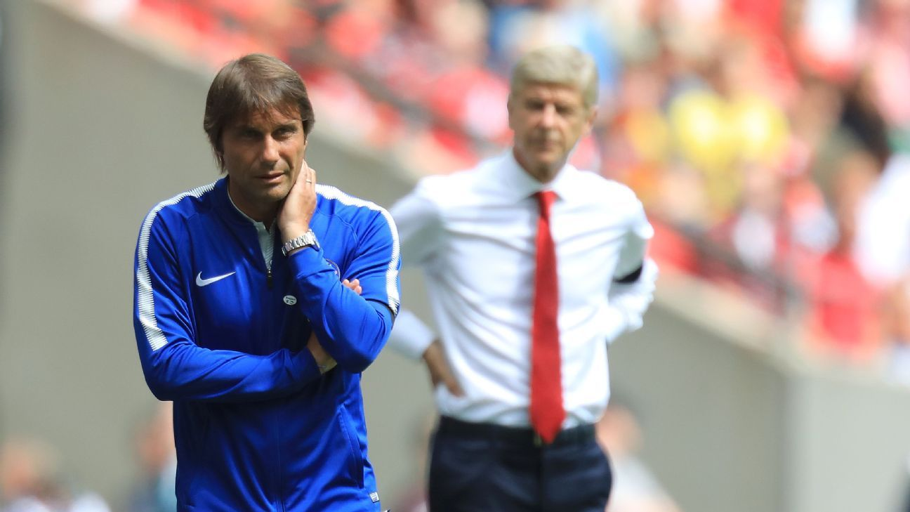 Antonio Conte and Chelsea have come up short of late against rivals Arsenal.