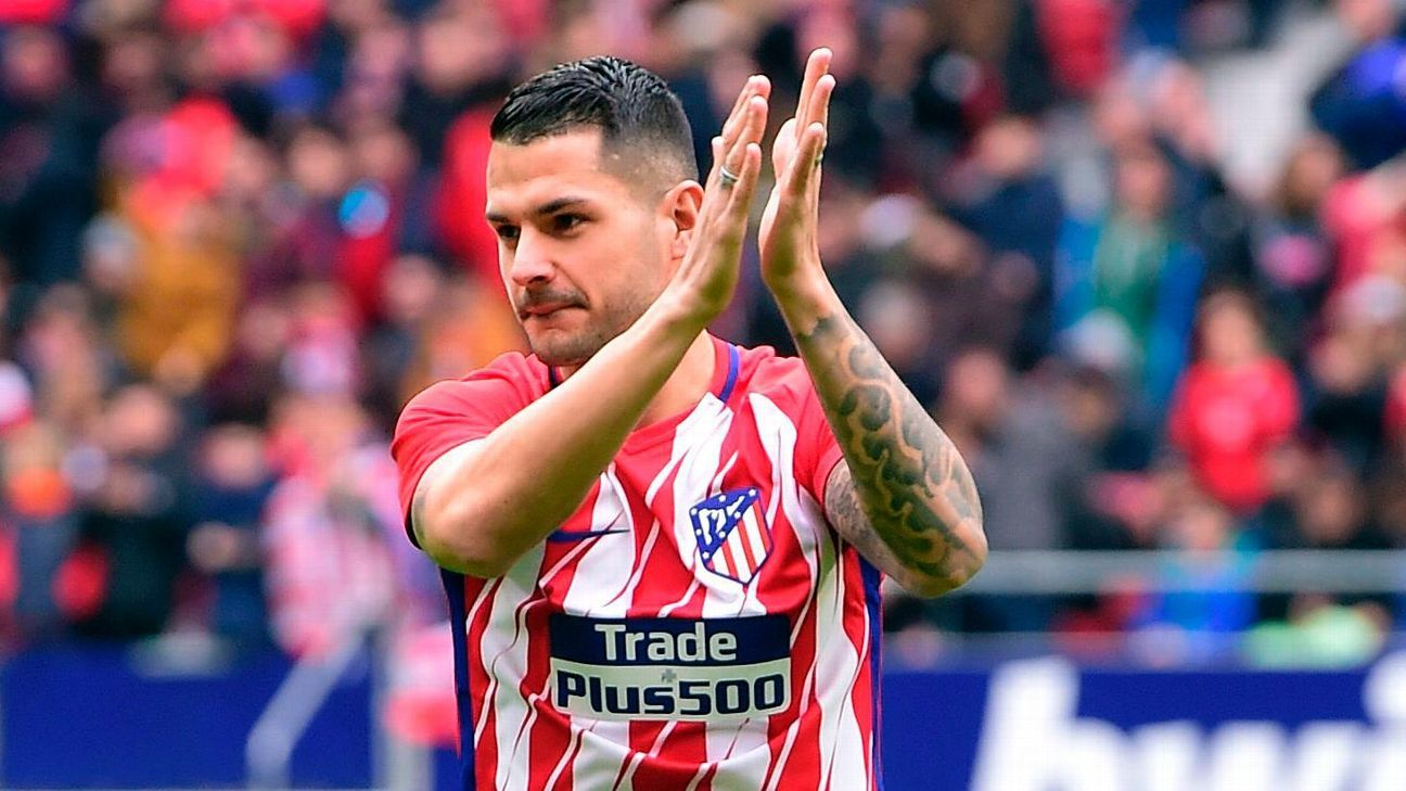 New-signing Vitolo opened his account for Atletico vs. Lleida.