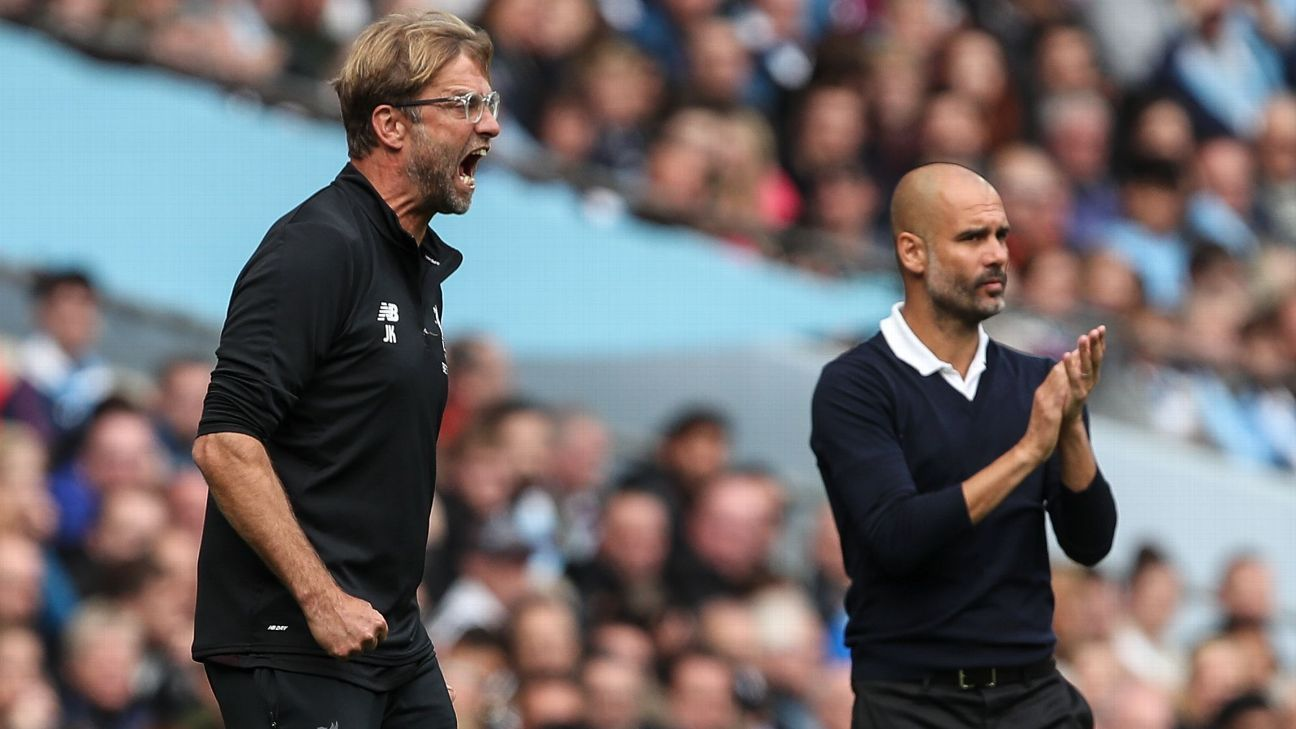 Jurgen Klopp has a better head-to-head record against Pep Guardiola in thirteen previous meetings.