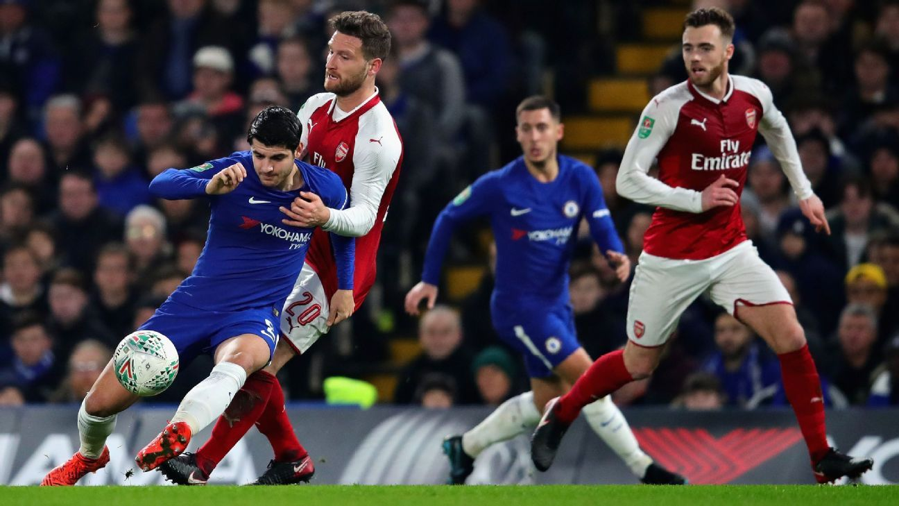 Alvaro Morata has struggled in Chelsea's meetings against Arsenal.