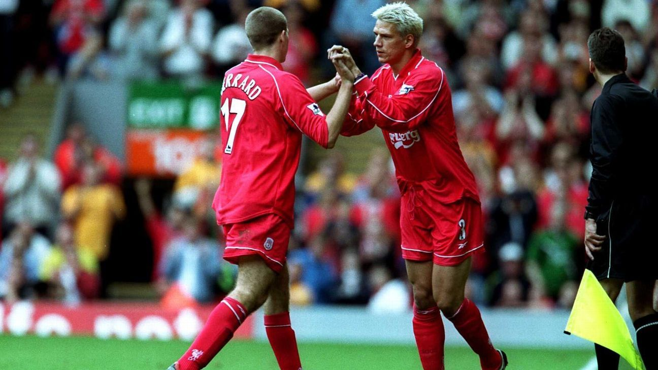 Christian Ziege makes Liverpool debut in 2000