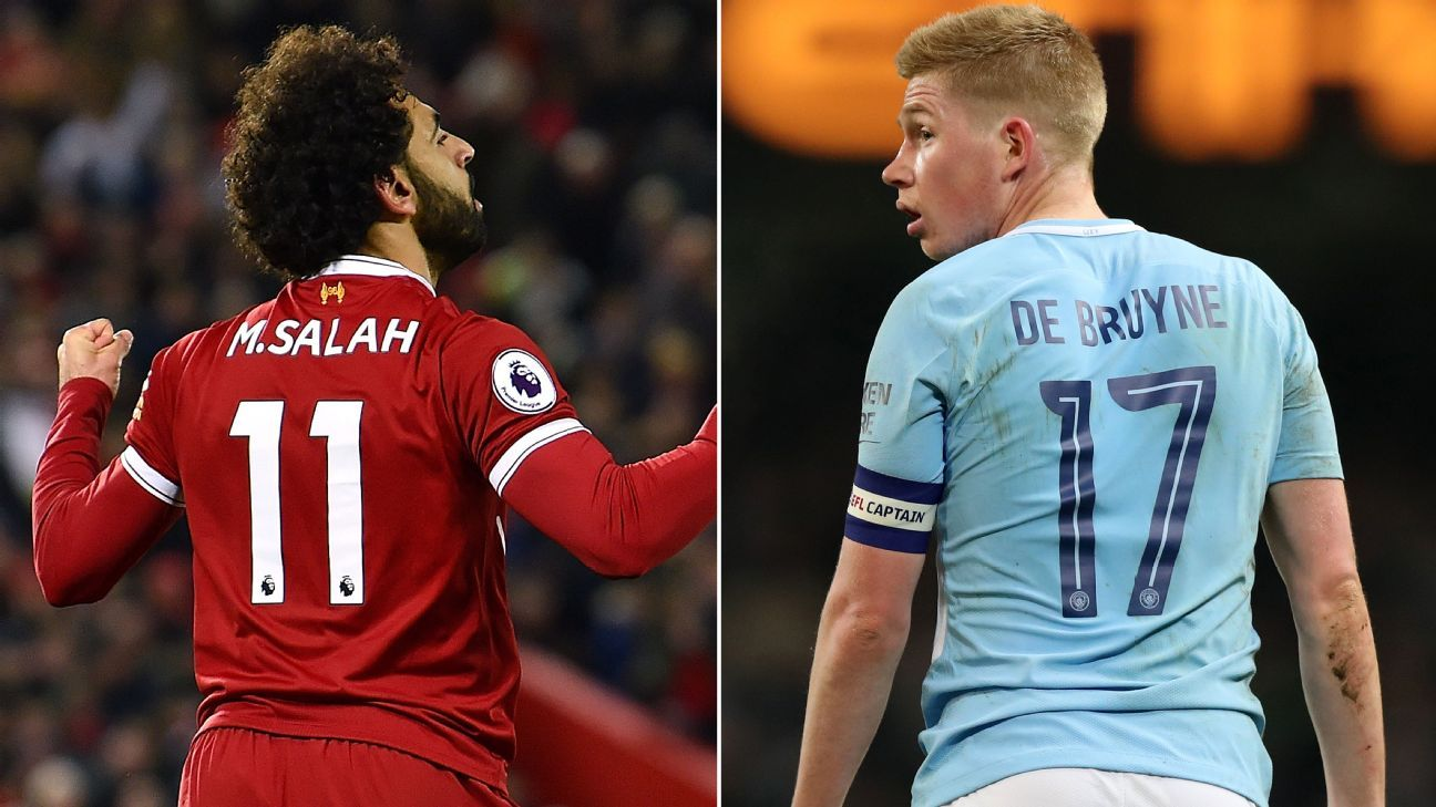 Mohamed Salah and Kevin De Bruyne have been head and shoulders above the rest this season in England.