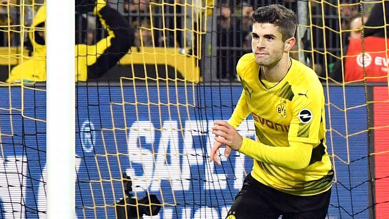 Christian Pulisic scores Borussia Dortmund's winning goal against Hoffenheim.