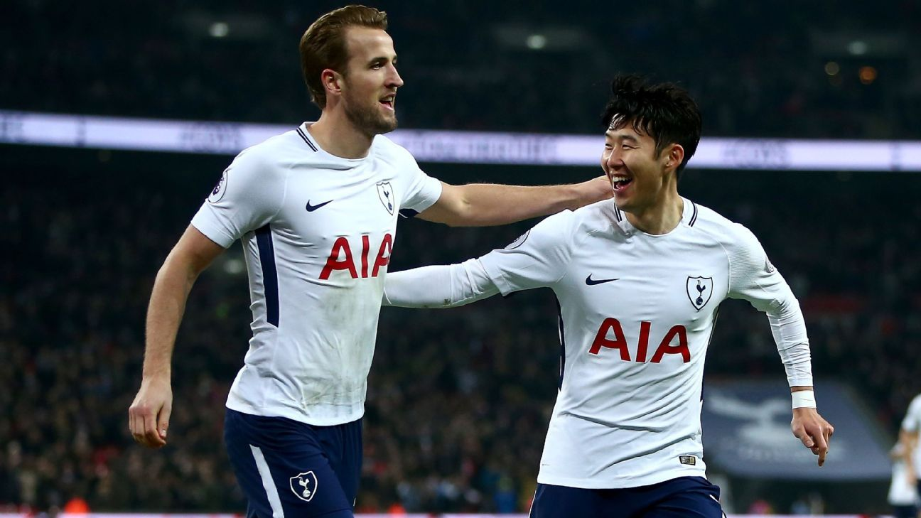 Harry Kane and Son Heung-min picked Everton apart at Wembley.