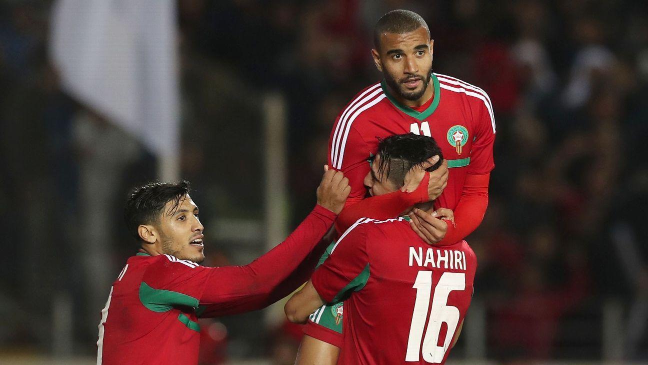 Ismail El Haddad of Morocco, Mohammed Nahiri and Abdelilah Hafidi